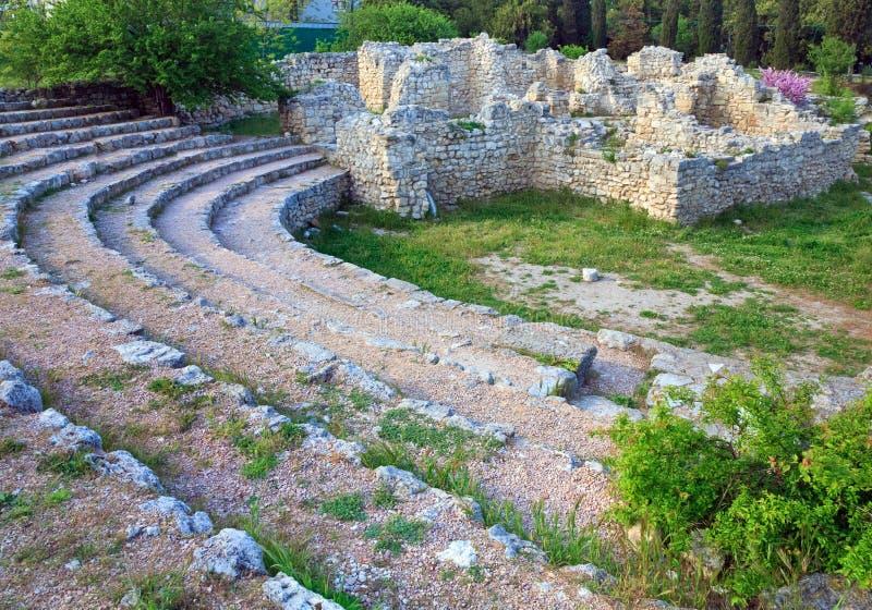 Sera Chersonesos (città antica) fotografia stock libera da diritti