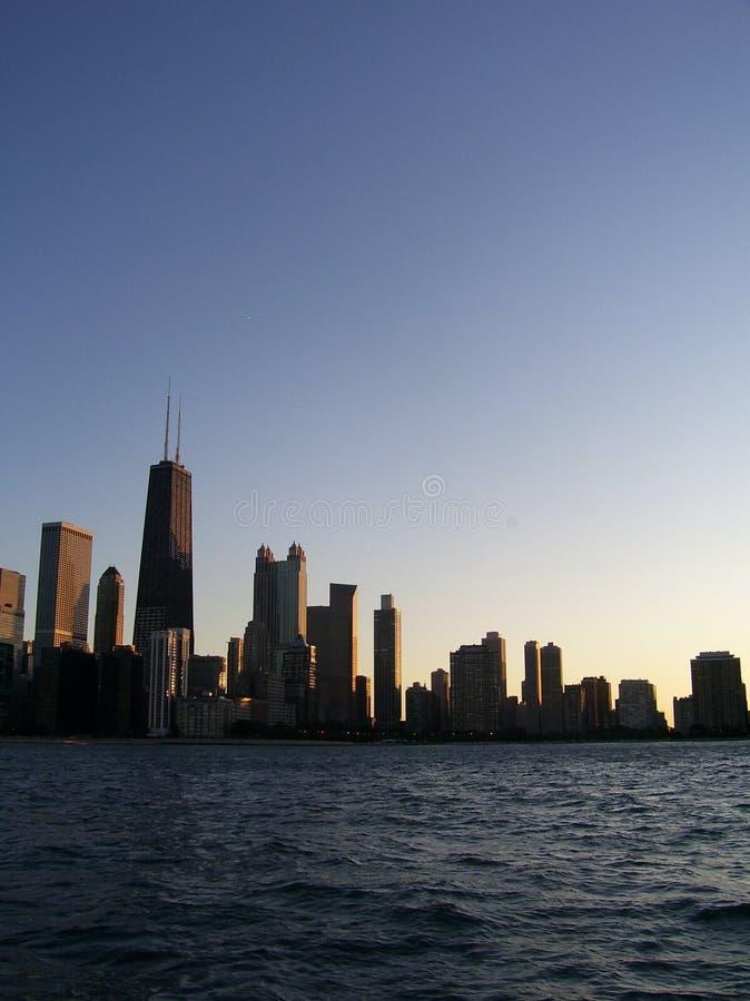Sera in Chicago fotografia stock