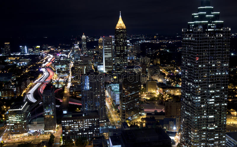 Sera Comute, Atlanta Georgia fotografia stock