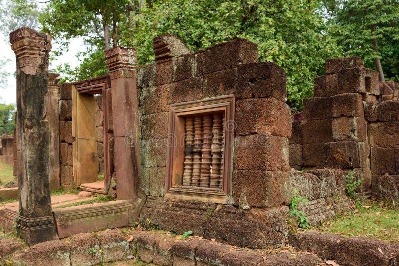 Sera del tempio e della pietra fotografia stock libera da diritti