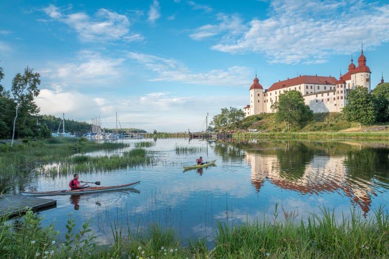 Sera di estate in Svezia fotografia stock