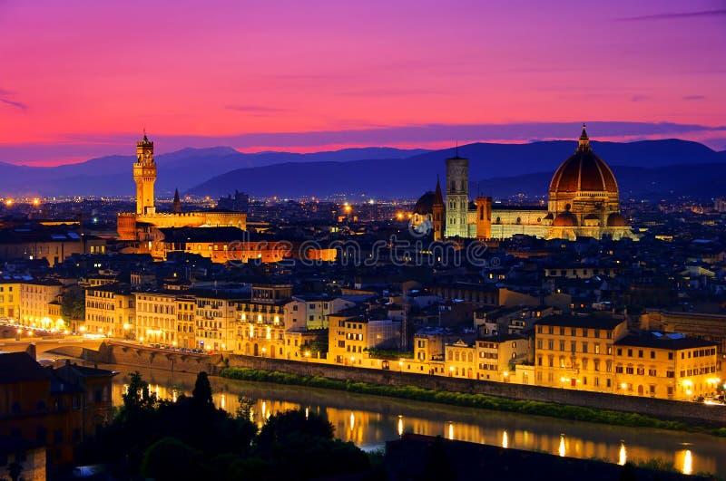 Sera di Firenze immagini stock libere da diritti