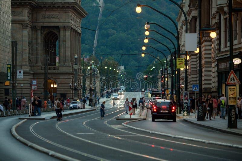 Sera di Praga fotografia stock libera da diritti