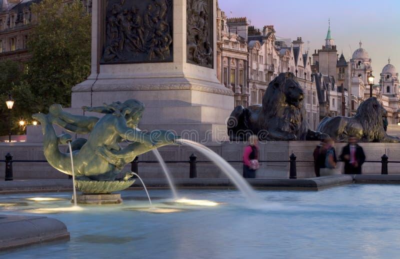 Sera di Trafalgar fotografie stock libere da diritti