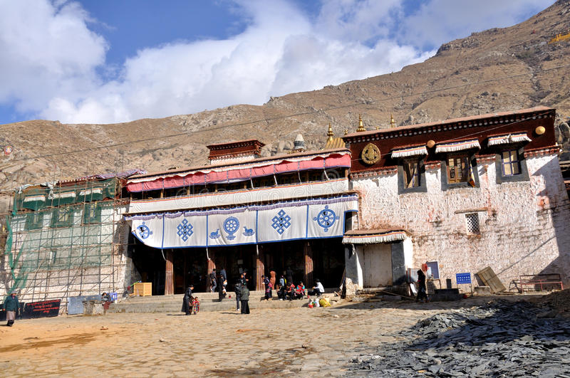 Sera Monastery. Is a Buddhist monastery in Lhasa.It is one of the 'great three' Gelukpa university monasteries of Tibet royalty free stock images