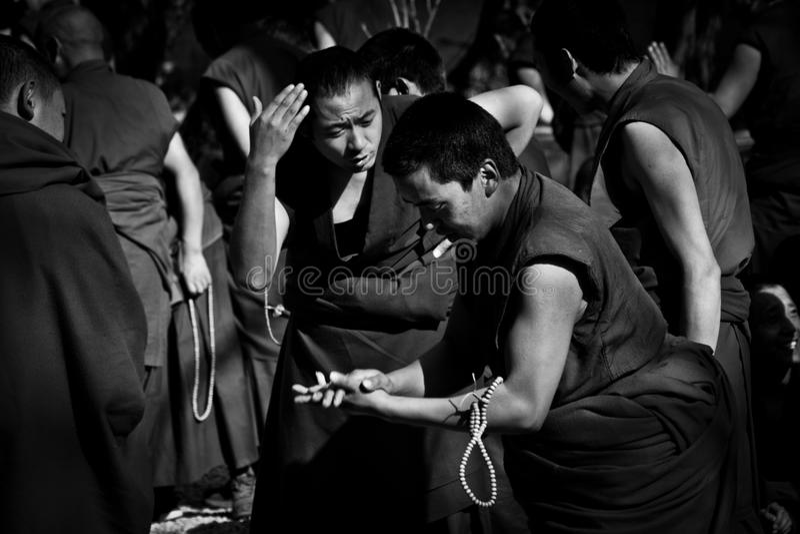 Sera Monastery Debated Monks Lhasa Tibet immagini stock