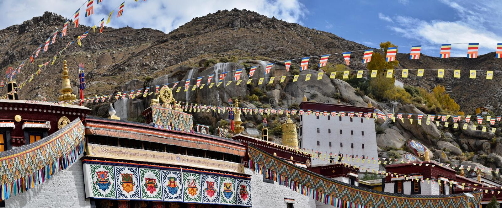Sera Monastery, one of the great three Gelug university monasteries of Tibet, located near Lhasa. It was founded in 1419. stock image