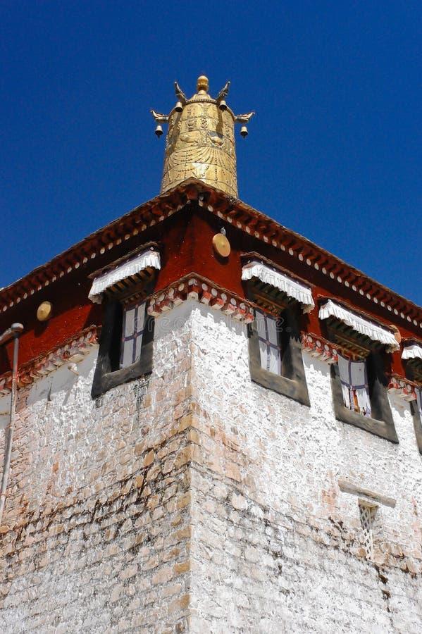 Sera Monastery, Tibet. Roof decoration of Sera Monastery in Lhasa, Tibet stock images