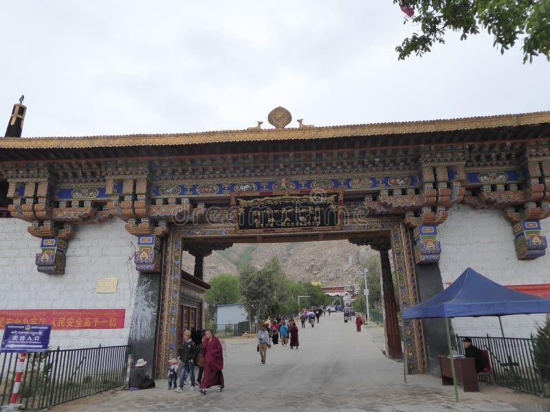 Sera Monastery Tibet Buddhism. Sera monastery in Tibet. Famous Buddhist university where monks debate every tuesday stock photos