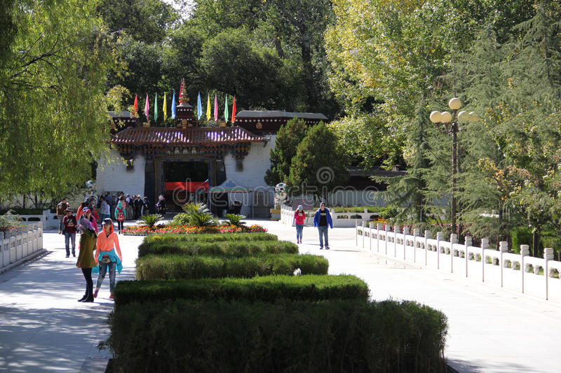 Sera Monastery, Tibet. Sera Monastery is one of the great three Gelug university monasteries of Tibet, located 1.25 miles (2.01 km) north of Lhasa and about 5 royalty free stock images