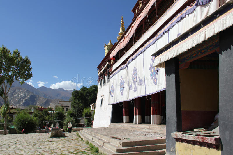 Sera Monastery, Tibet. Sera Monastery is one of the great three Gelug university monasteries of Tibet, located 1.25 miles (2.01 km) north of Lhasa and about 5 royalty free stock photography