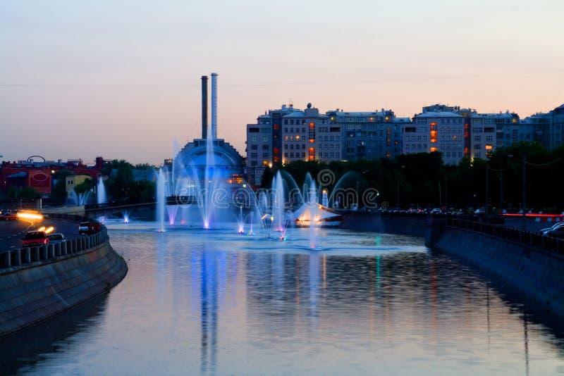 Sera a Mosca fotografie stock libere da diritti
