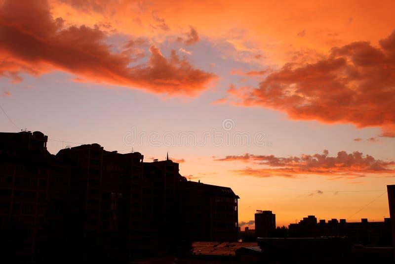 Sera Omsk fotografia stock libera da diritti