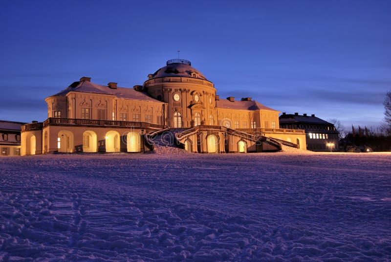 Castello di solitudine a Stuttgart fotografia stock libera da diritti