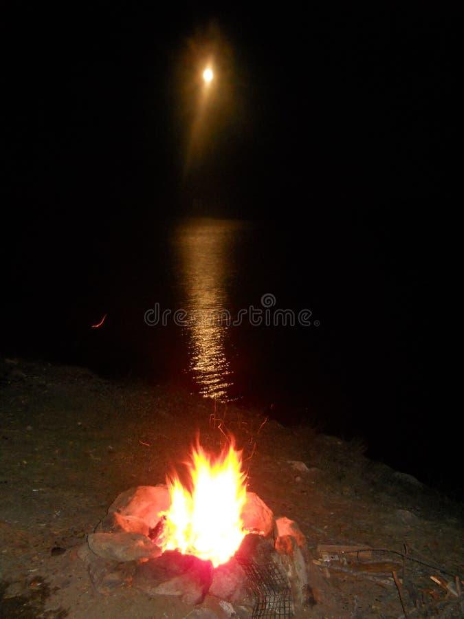 sera sul lago Baikal immagine stock libera da diritti