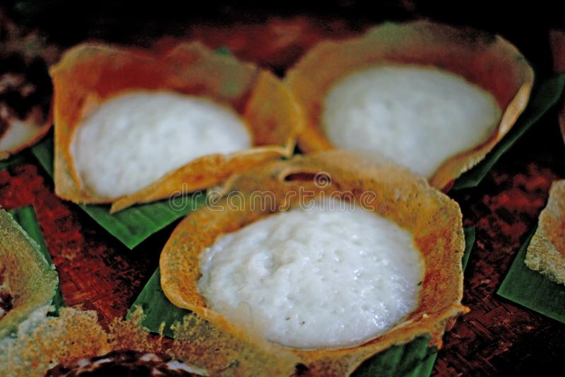 Serabi, tradycyjny tort od Środkowego Jawa zdjęcia royalty free