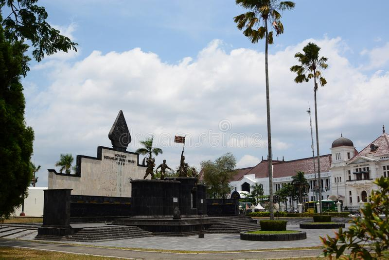 Serangan Umum 1 monument van Maret 1949 Yogyakarta java indonesië royalty-vrije stock fotografie