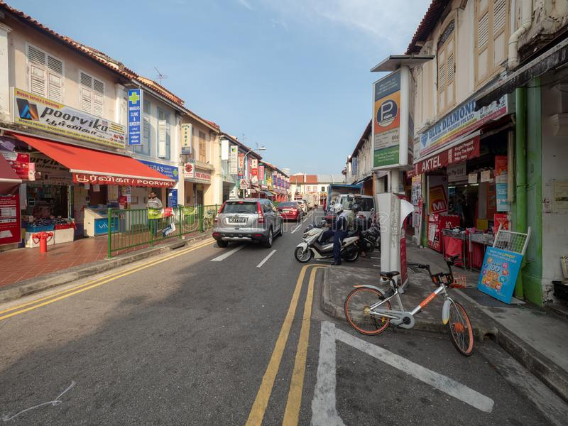 Serangoon Road at Little India Singapore. Singapore - August 20 2018: Serangoon Road at Little India Singapore. Little India is an ethnic district in Singapore royalty free stock image