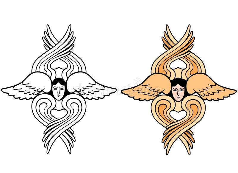Seraphim skrzydła ilustracja wektor