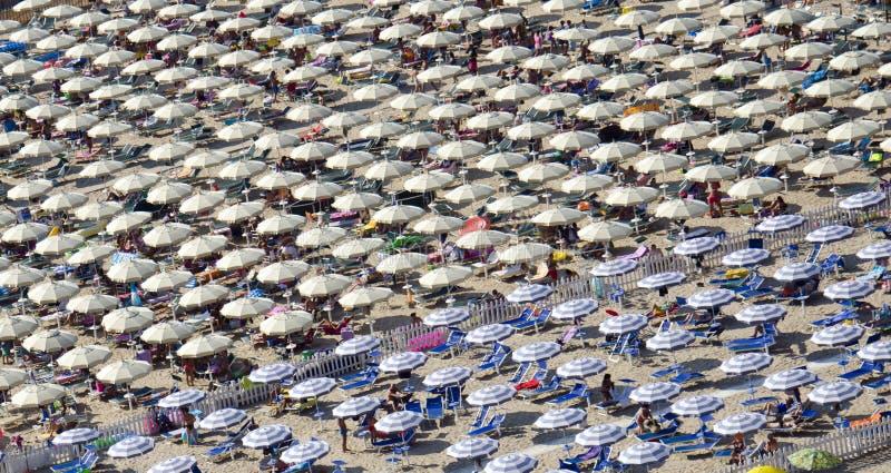 Serapo Plażowi parasole obraz stock