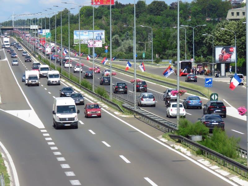 Serba i francuza flagi obrazy royalty free