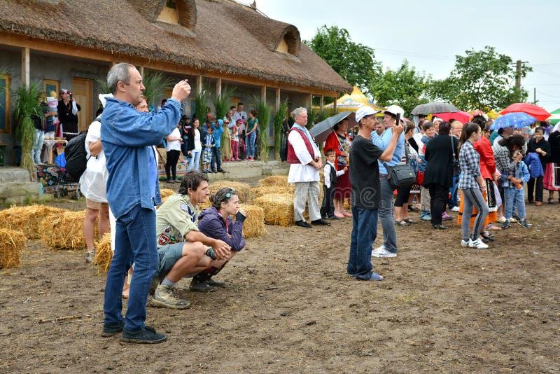 ` Serbare Campeneasca ` w Visina, Tulcea, Rumunia zdjęcie royalty free