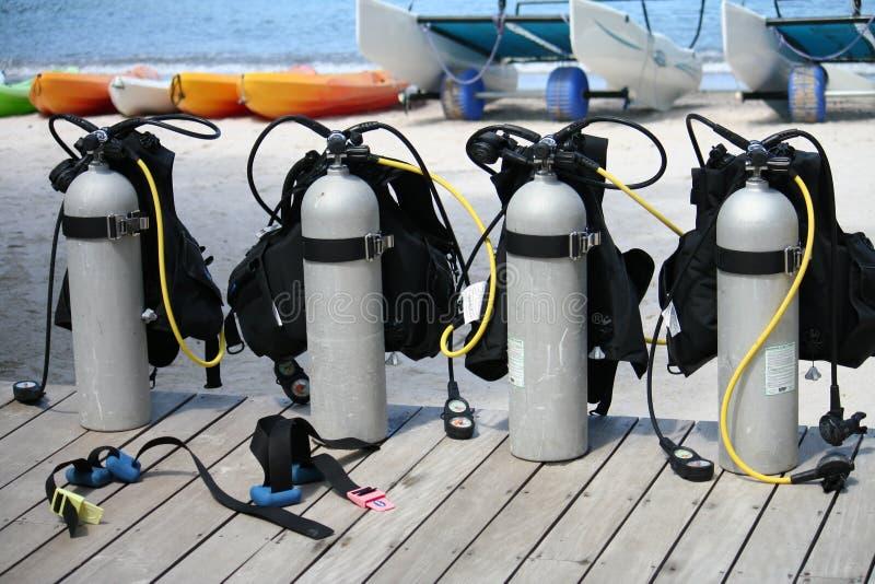 Serbatoi dello scuba fotografia stock