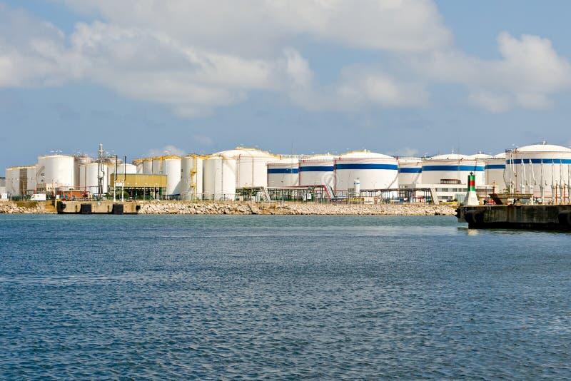 Serbatoi di LNG fotografie stock