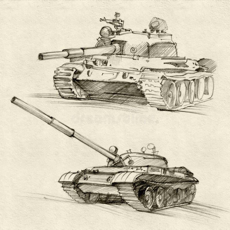 Serbatoi sovietici illustrazione di stock