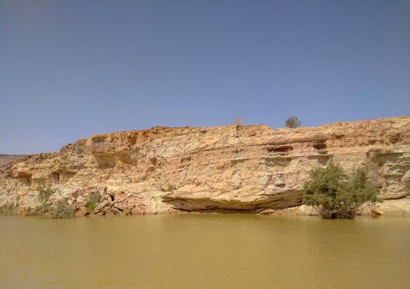 Serbatoio di acqua del cratere di Ramon, foto di viaggio di Israel Summer fotografia stock libera da diritti