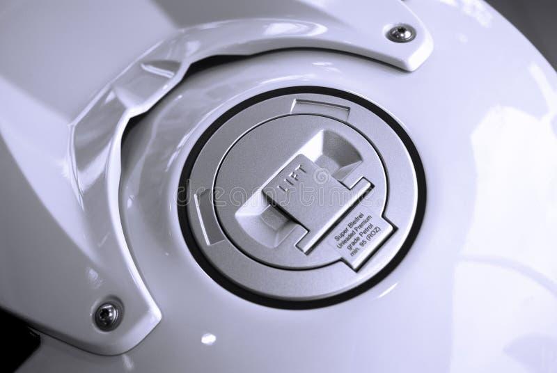 Serbatoio di combustibile del motociclo fotografia stock libera da diritti