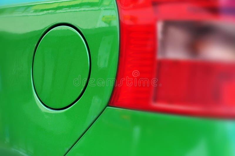 Serbatoio di combustibile verde dell'automobile fotografie stock