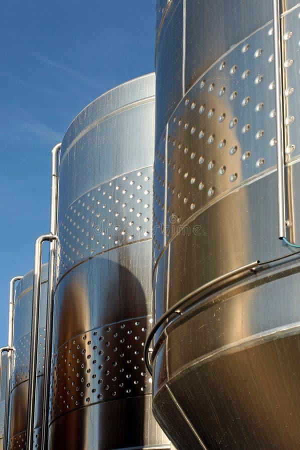 Serbatoio di fermentaion della birra fotografia stock libera da diritti