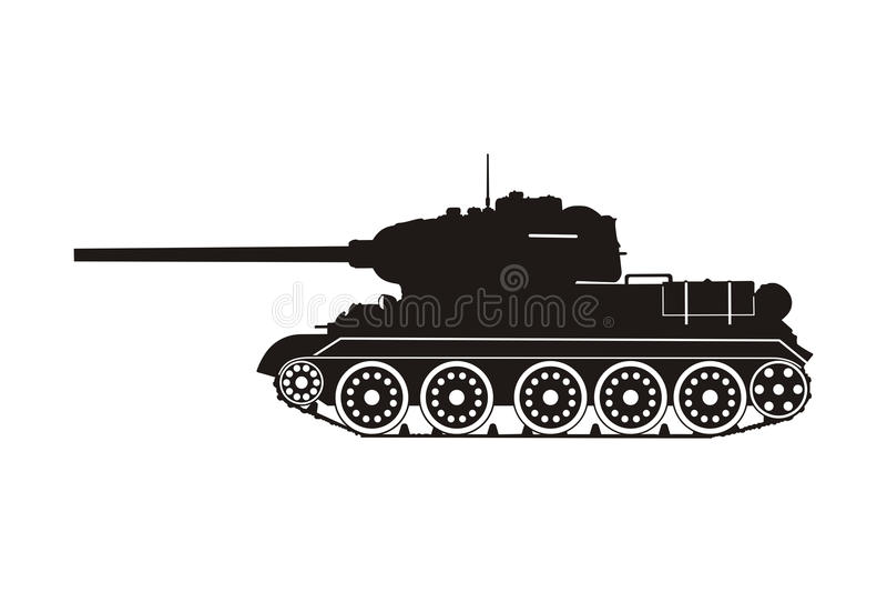 Serbatoio t-34 illustrazione vettoriale