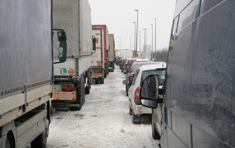 serbia śniegu burza zdjęcia royalty free