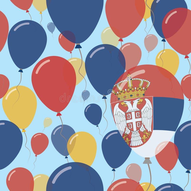 Serbia święta państwowego Płaski Bezszwowy wzór ilustracja wektor