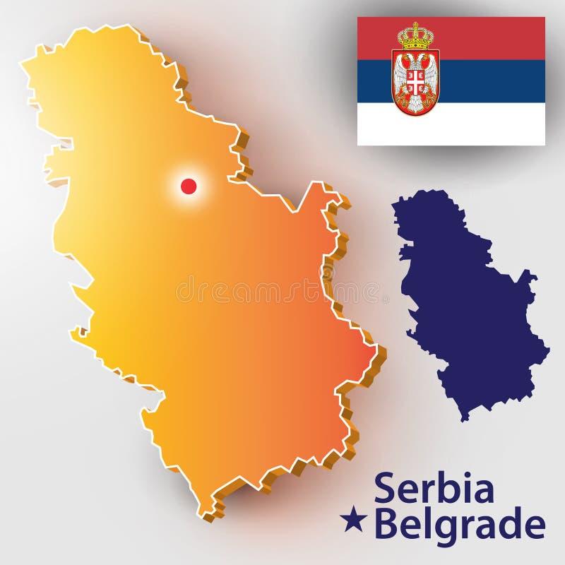 serbia illustrazione di stock