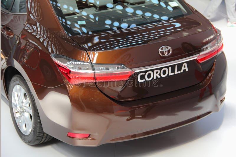 Serbia; Belgrade; Kwiecień 2, 2017; Popiera Toyota Corolla; 53r zdjęcia royalty free