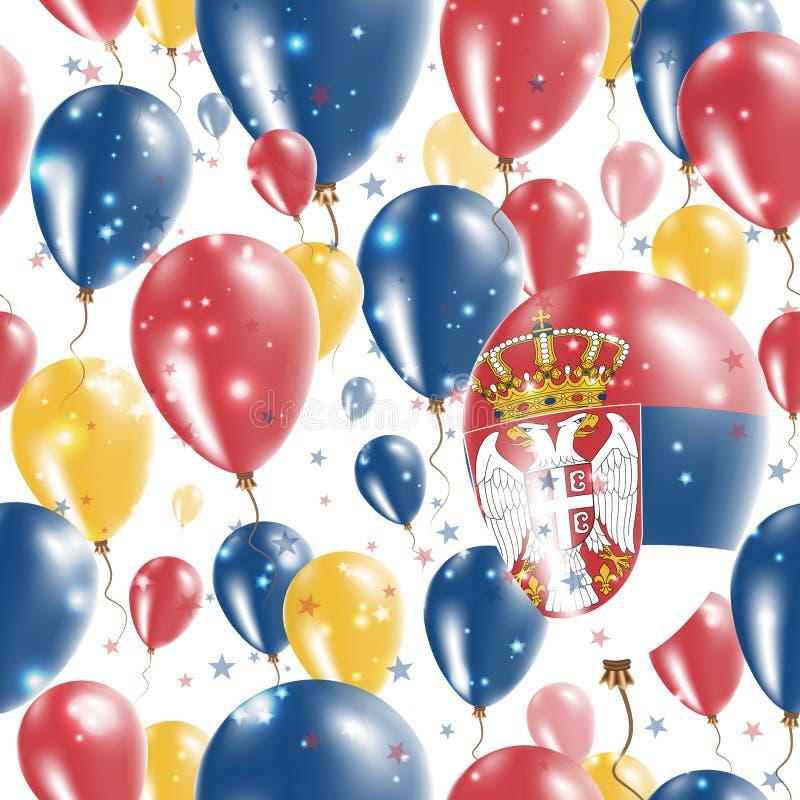 Serbia dnia niepodległości Bezszwowy wzór royalty ilustracja