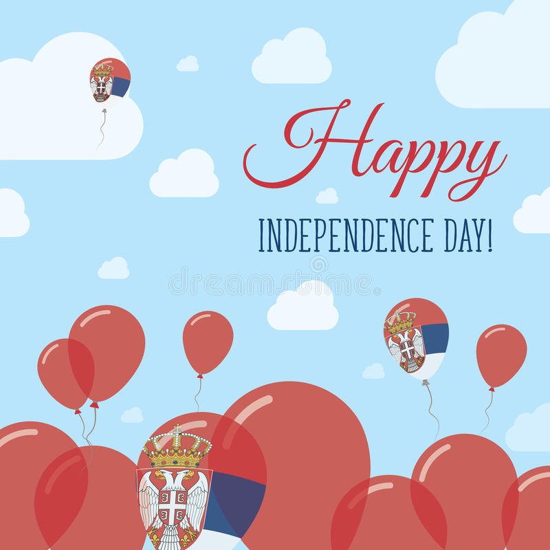 Serbia dnia niepodległości Płaski Patriotyczny projekt royalty ilustracja