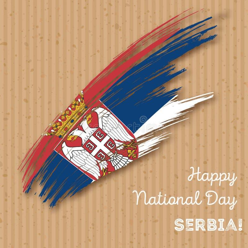 Serbia dnia niepodległości Patriotyczny projekt ilustracji