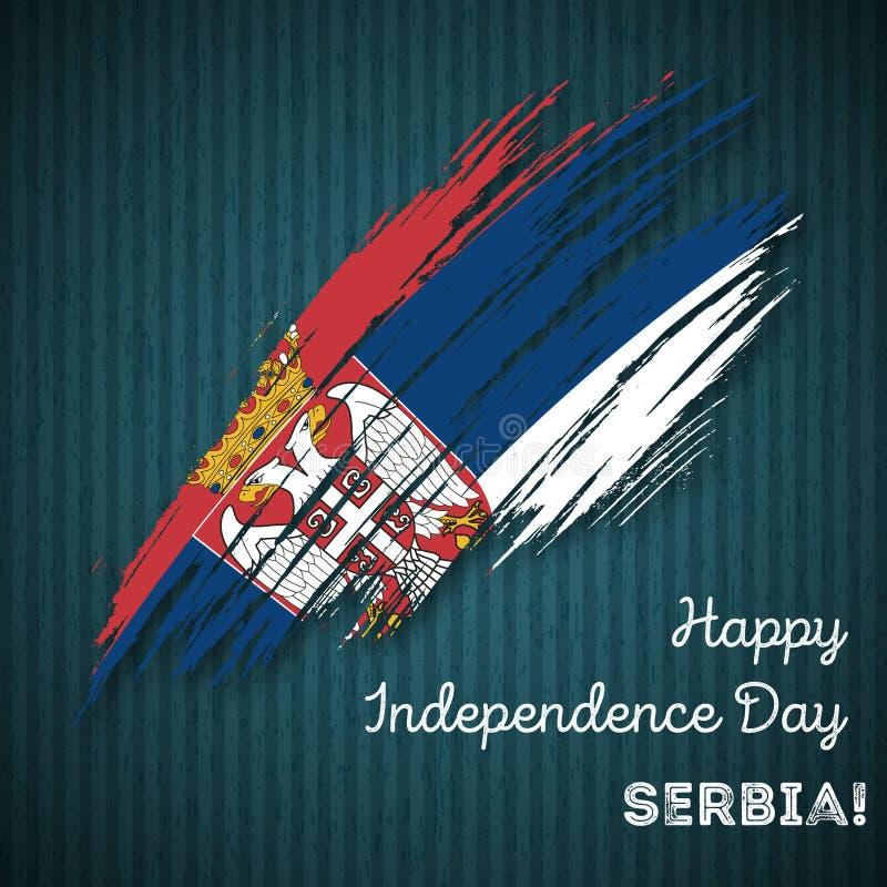Serbia dnia niepodległości Patriotyczny projekt royalty ilustracja