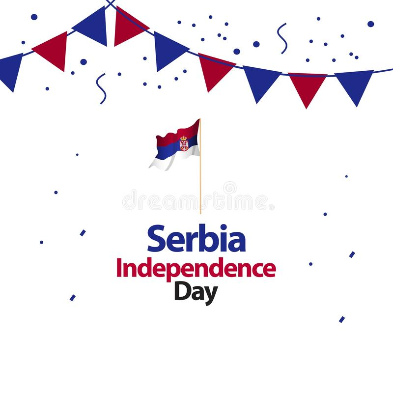 Serbia dnia niepodległości projekta Wektorowa ilustracja ilustracji