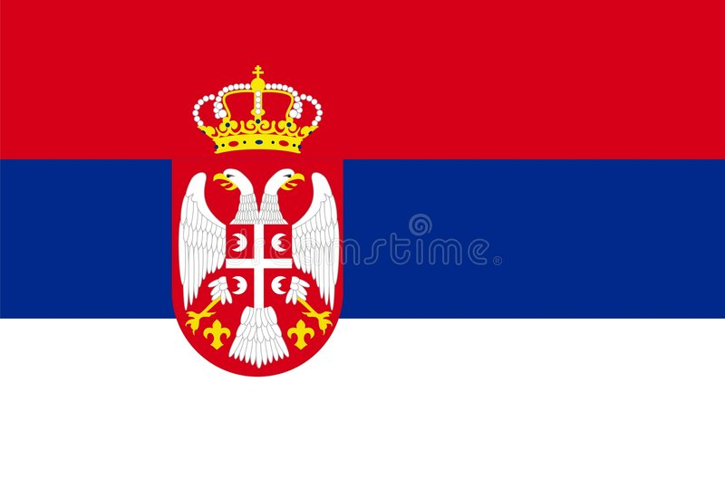 Download Serbia Flag stock illustration. Image of flag, empty, serbia - 7495466