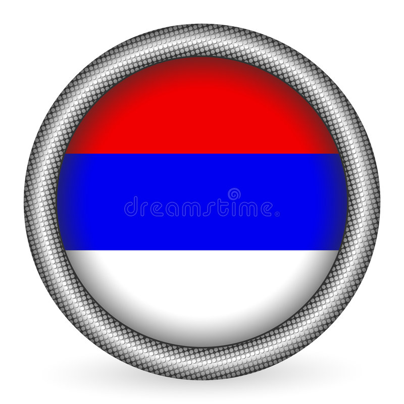 Download Serbia flag button stock vector. Image of vector, badge - 7868829