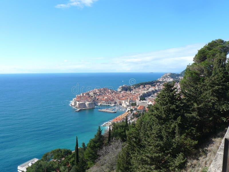 serbia montenegro hill view costeira fotografia de stock royalty free