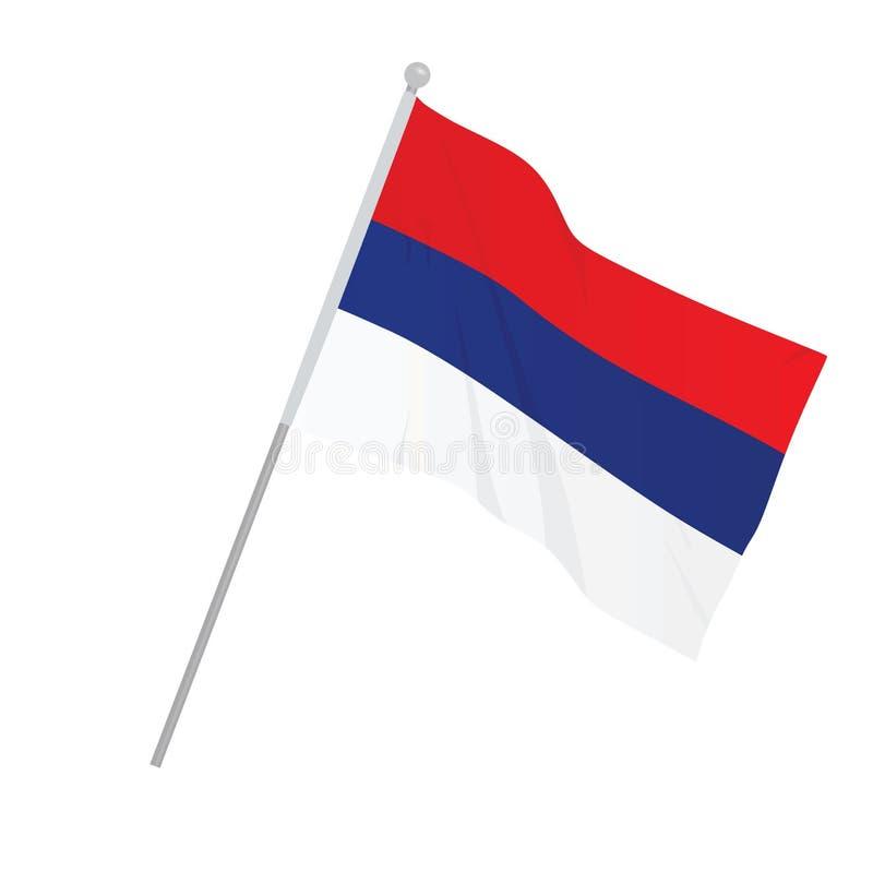 Serbia national flag. Vector illustration stock illustration