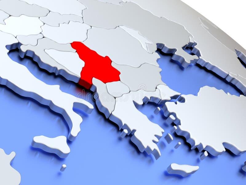 Serbia On World Map Stock Illustration Image 78579355