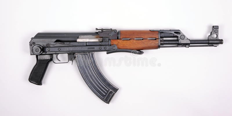 Serbian assault rifle KALASHNIKOV stock photo
