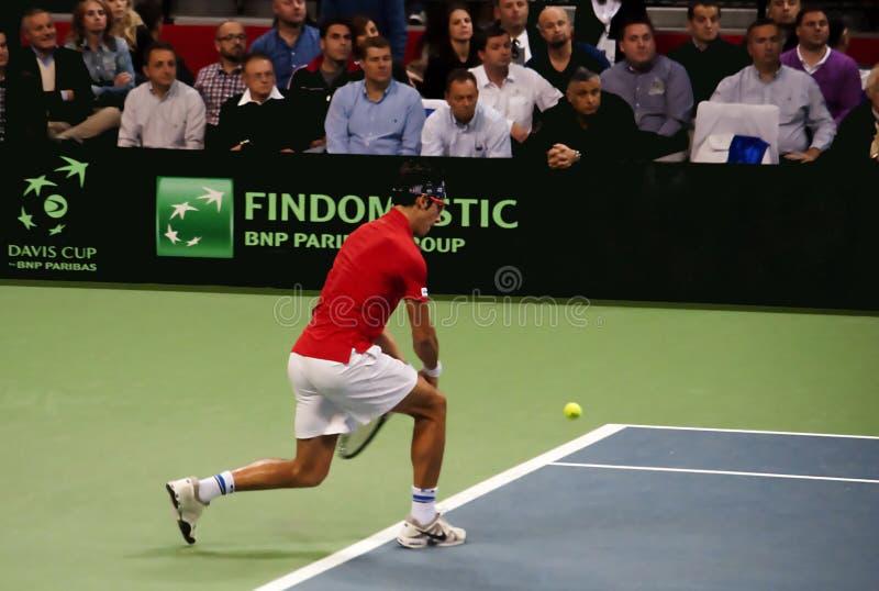 Serbian-Czech Republic doubles match royalty free stock photography